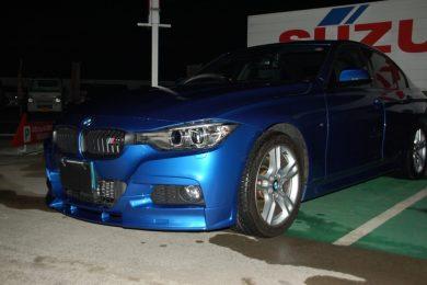 BMW 320i Mスポーツ(SA20)にフロントスポイラーを取り付けました